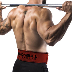 red squat and deadlift belt iron bull strength