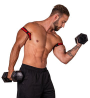 slim bfr bands for bar biceps curls occlusion training