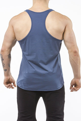 navy-blue gym tank top classic dry-fit back