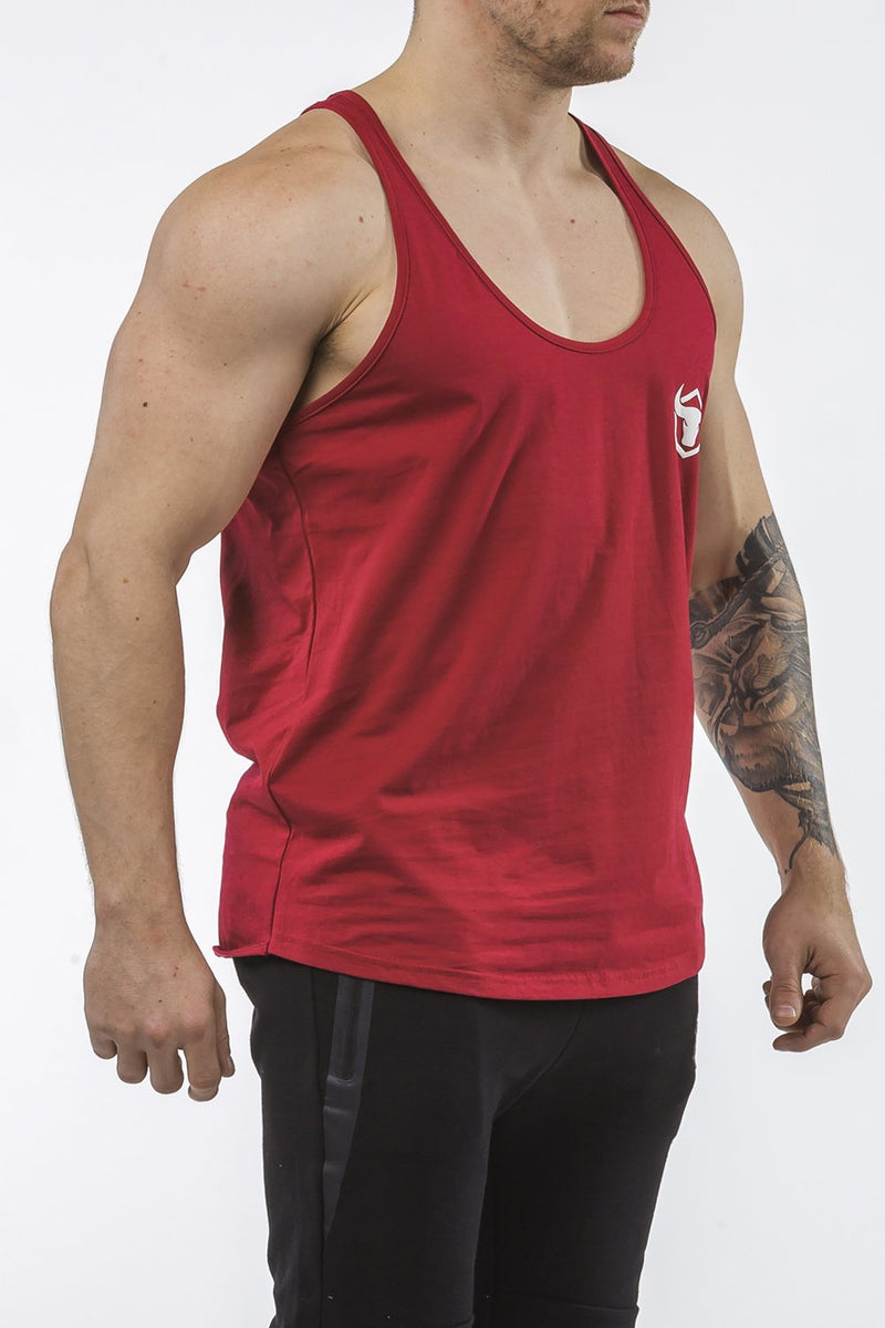 burgundy workout stringer classic series front side