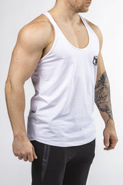 white workout stringer classic series front side