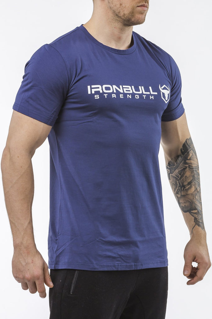 navy-blue classic series cotton t-shirt iron bull strength