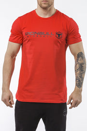 red classic series cotton best gym t-shirt