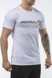 white classic series cotton t-shirt iron bull strength