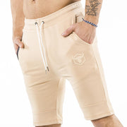 tan nice looking shorts for bodybuilder and strongman