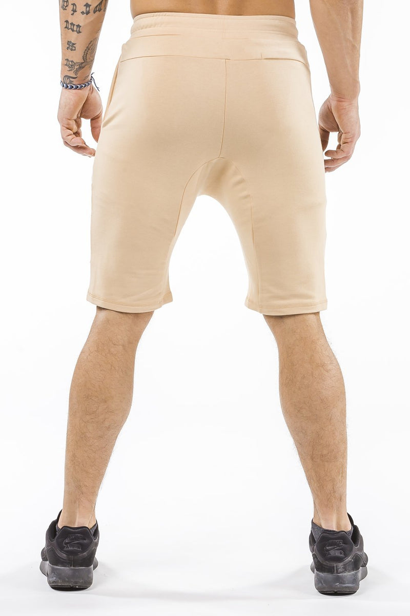 tan comfortable soft workout shorts
