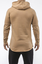 tan iron bull strength high quality soft cotton hoodie