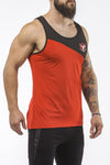 red-black workout performance comfortable tank top
