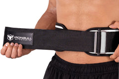 white how to wear weight lifting belt