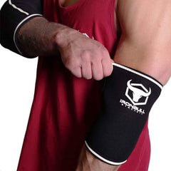 black-white elbow protection sleeves for fitness