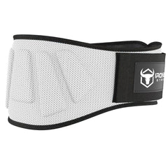 white iron bull strength 6 inches nylon weightlifting belt