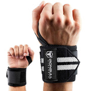 black-white iron bull wrist wraps wrist protection