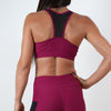 burgundy women breathable quick dry mesh top sports bra
