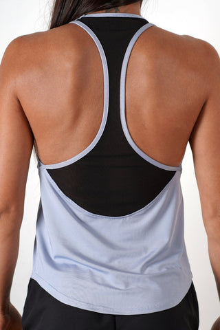 light-blue women tank top performance series racer back