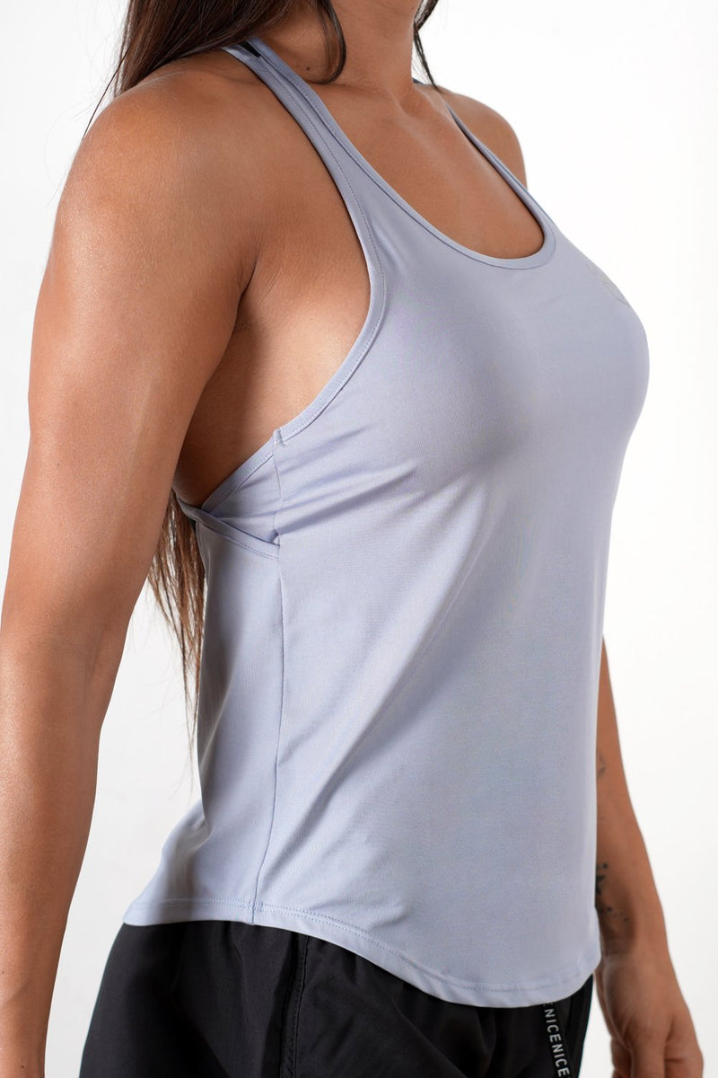 light-blue breathable women tank top performance series