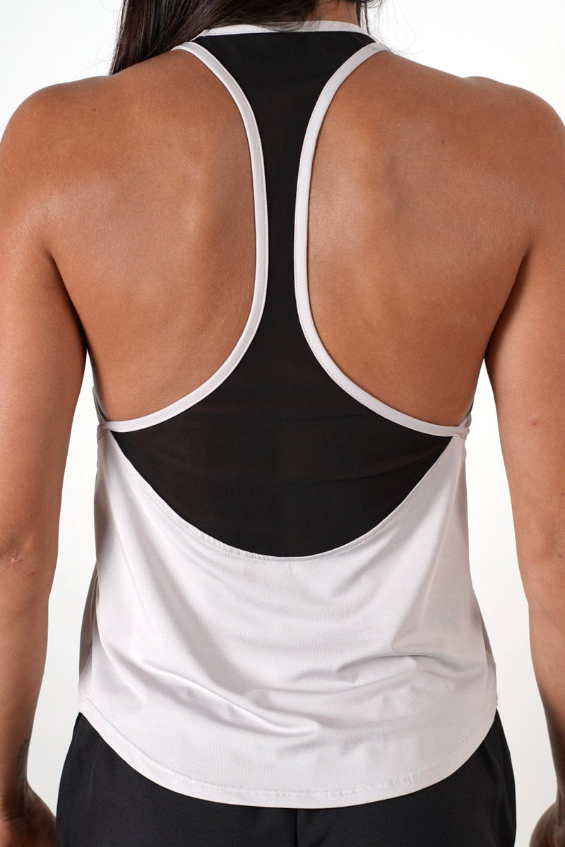 light-gray women tank top performance series racer back