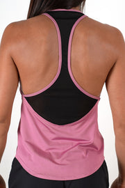 pink women tank top performance series racer back