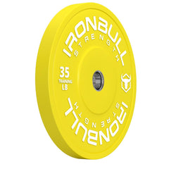 35-lb yellow bumper plate
