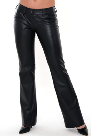 Handmade Low Waisted Genuine Leather Pants