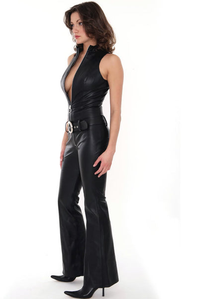 Handmade Sleeveless Leather Catsuit