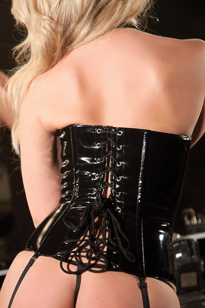 The Bondarella Black Vinyl Corset