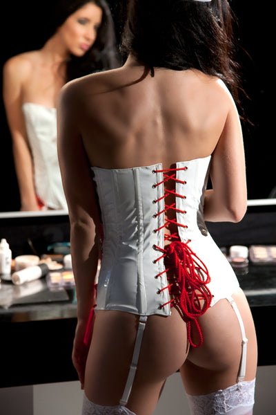 3 Piece Vinyl Nurse Corset Set