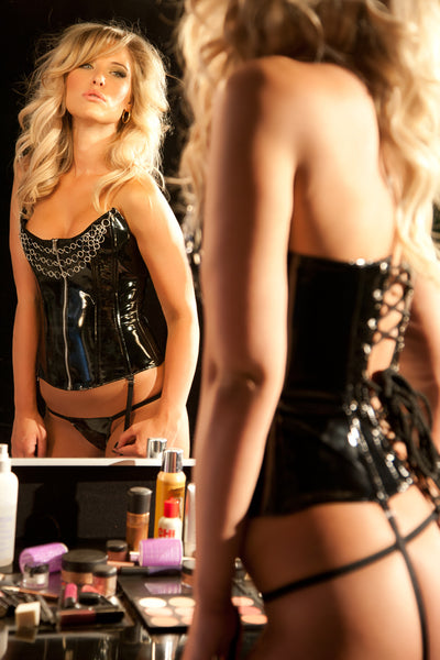 The Seductive Mistress Vinyl Corset