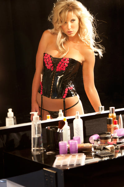 The Polyantha Rose Vinyl Corset