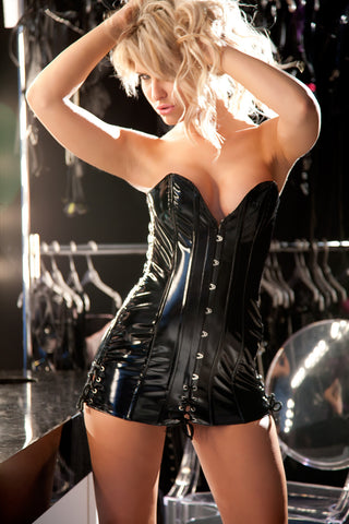 Vinyl Discipline Corset Dress
