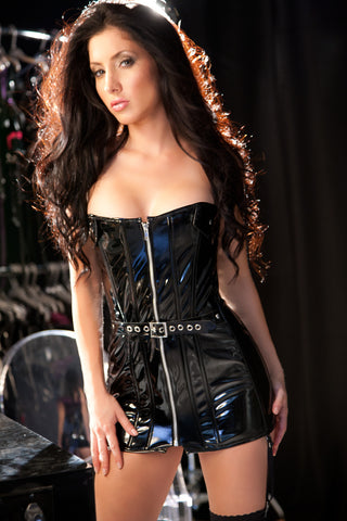Ravishing Vinyl Corset Dress