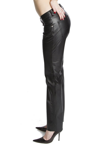Handmade Womens Premium Low Rise Leather Pants
