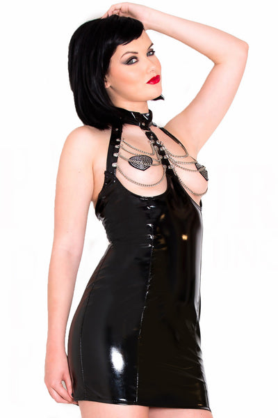 PVC Chain Exposure Dress