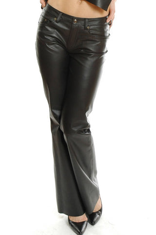 Handmade 5-Pocket Genuine Leather Pants