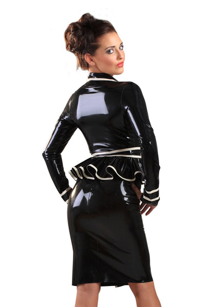 Black & White Latex Jubilee Jacket Dress