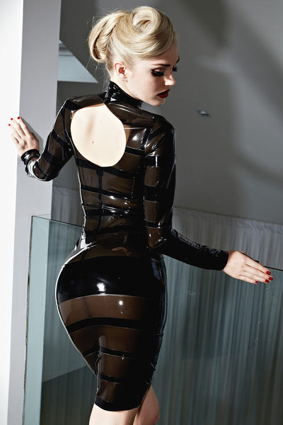 Latex Bandage Pencil Dress