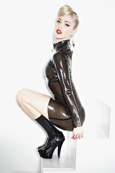 Latex Smoke Screen Seducer Dress