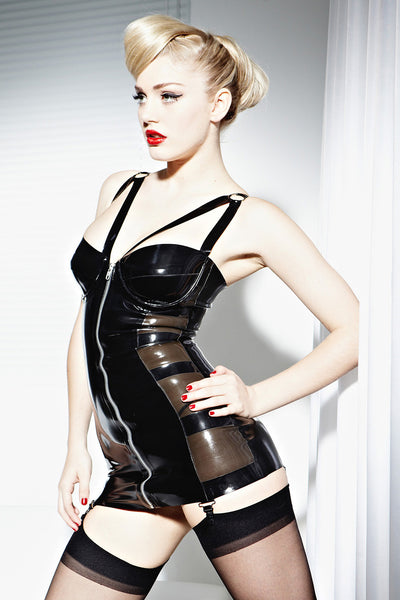Latex Silhouette Suspender Dress