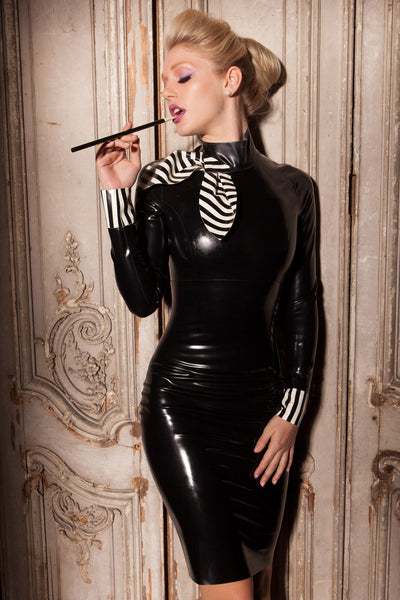 Countess Latex Pencil Dress