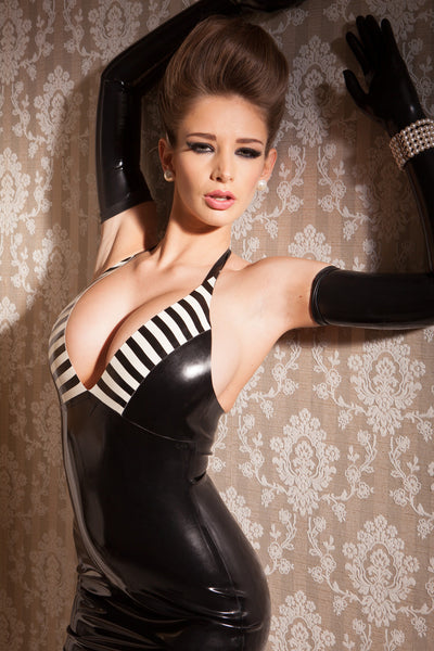 Latex Dynasty Halter Dress