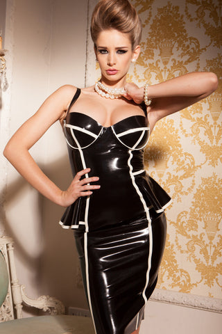 Latex Penelope Peplum Dress