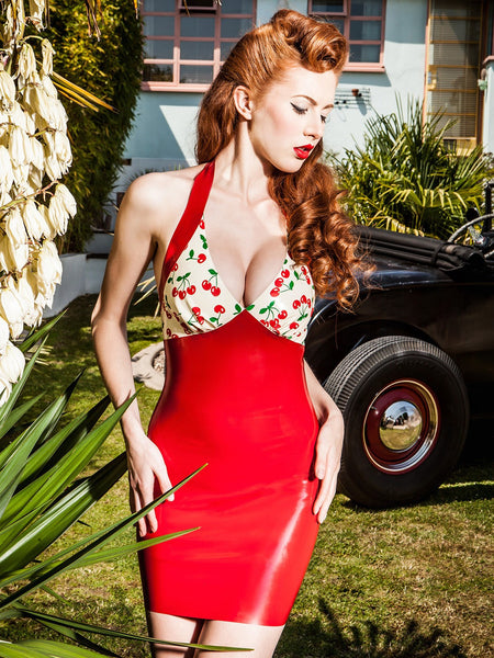 Cherry Belle Latex Rendezvous Mini Dress