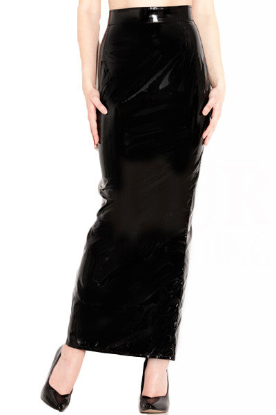 Contessa Full Length Vinyl Skirt