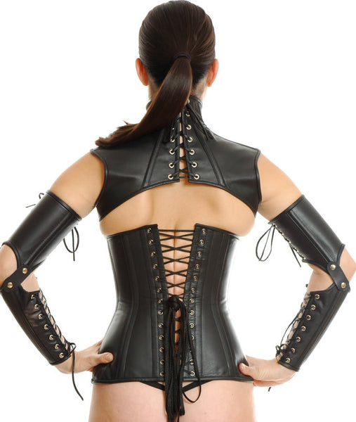 Handmade Leather Neck Corset Bolero