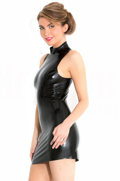Latex Polo Dress with Keyhole Back