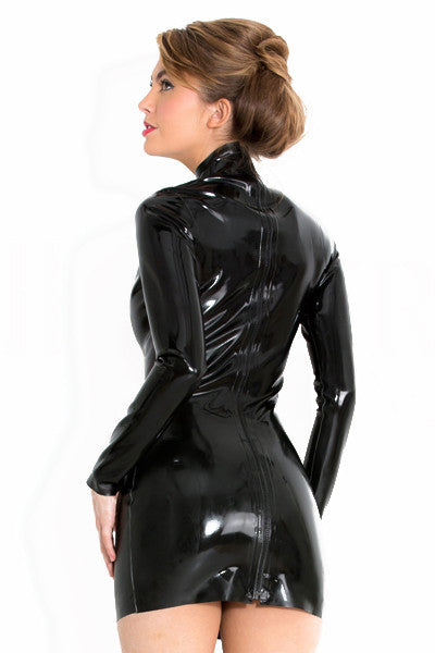 Long Sleeve Latex Midnight Dress