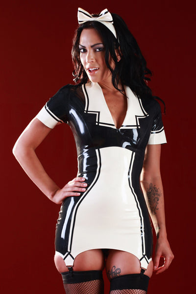 Matilda Latex Maid Dress & Hair Bow
