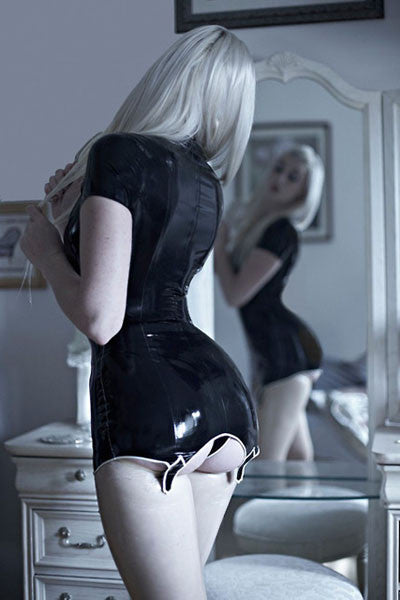 Handmade Latex Garter Dress