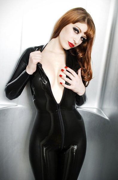 Basic Black Latex Catsuit