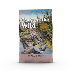 [1-FOR-1] Taste Of The Wild Lowland Creek Recipe with Roasted Quail & Duck Dry Cat Food (2 Sizes)