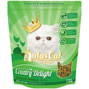 Aatas Cat Country Delight Chicken Flavour Dry Cat Food, 1.2kg.Happy Hoomans
